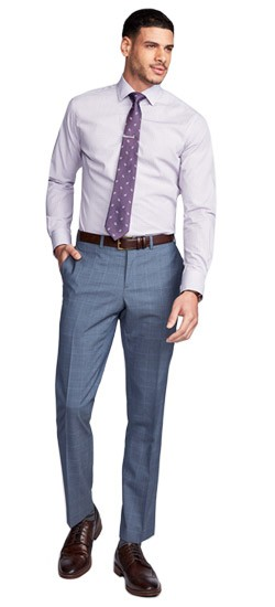 Exeter Windowpane Gray Pants