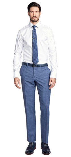 Exeter Windowpane Blue Pants