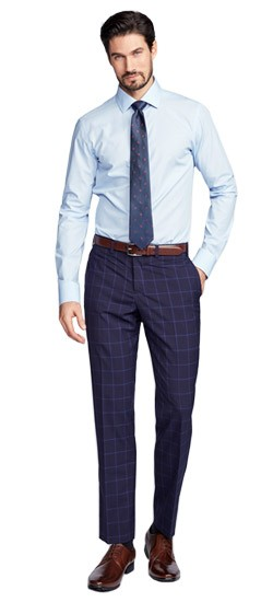 Exeter Windowpane Midnight Pants