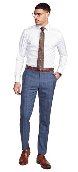 Kingston Plaid Blue Pants