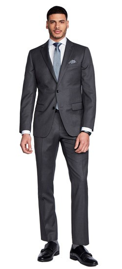 Hartford Fineline Charcoal Suit