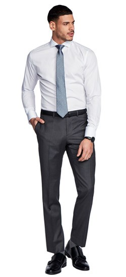 Hartford  Fineline Charcoal Pants