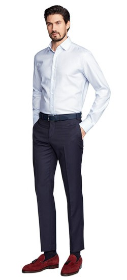 Hartford  Fineline Navy Pants