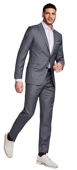 Men\'s Custom Suits - Hemsworth Gray Suit | INDOCHINO