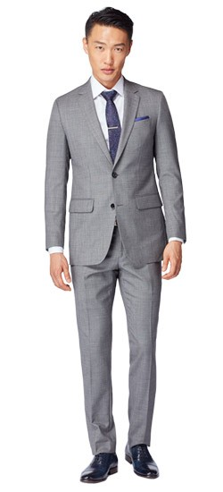 Hayle Sharkskin Gray Suit