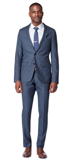 Hayle Sharkskin Navy Suit