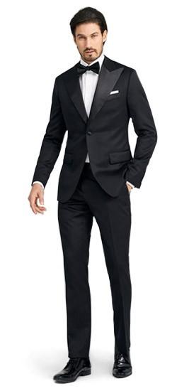 Custom wedding tuxedos black tie tuxedos free shipping indochino hampton black tuxedo junglespirit Gallery