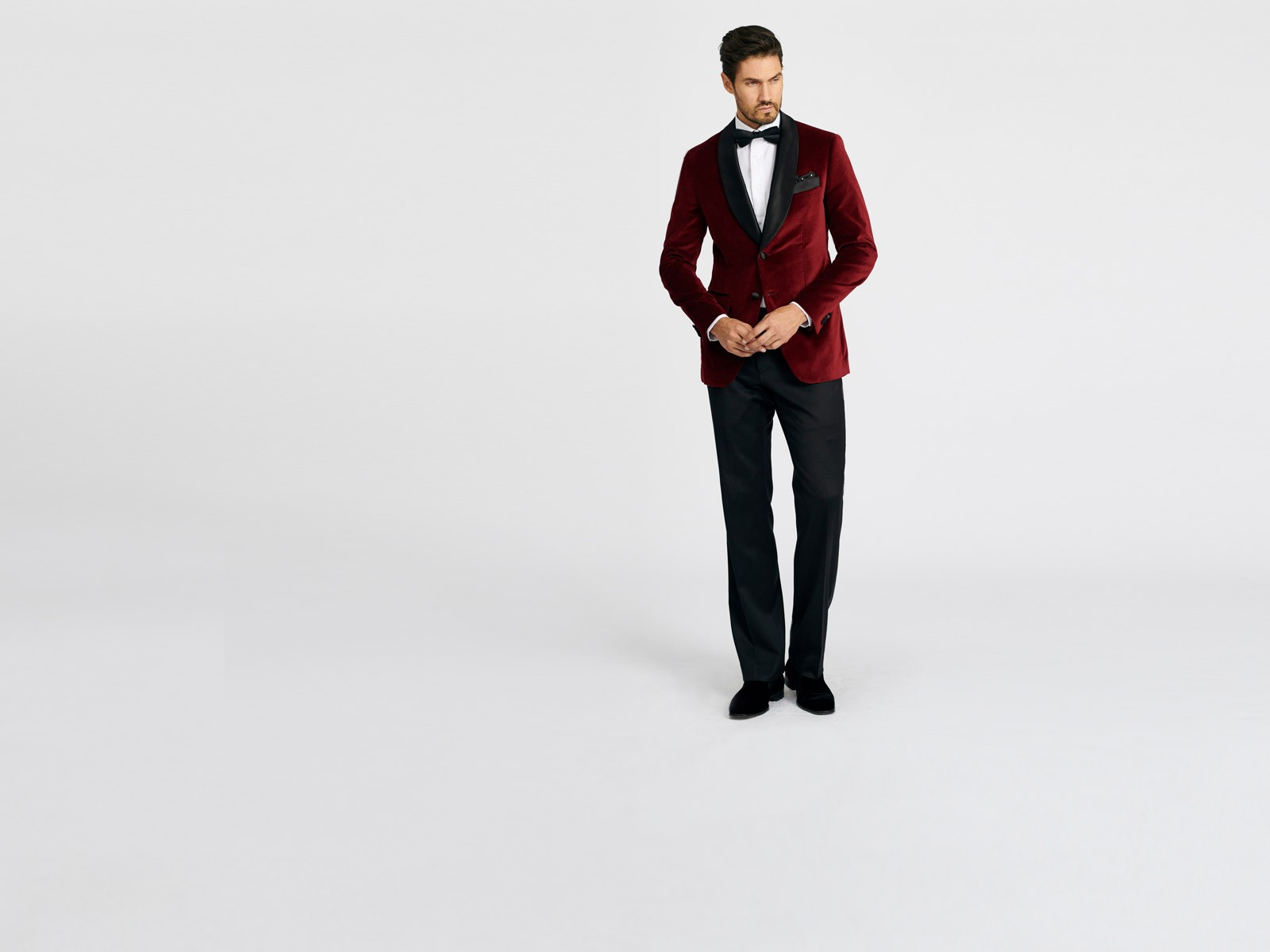 Harford Burgundy Velvet Dinner Jacket