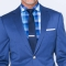 Mixed Bright Indigo Twill Suit 1