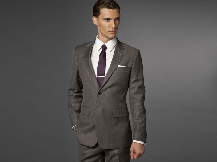 Metallic Gray Suit