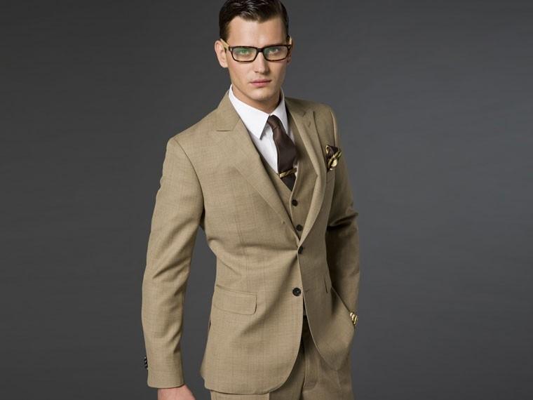 The Sandy Light Brown Suit