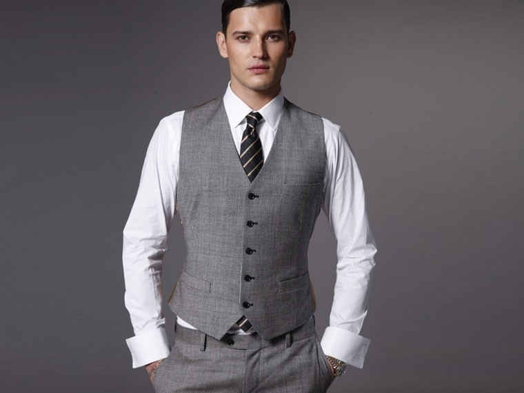 The Associate 3 Piece Tweed Suit