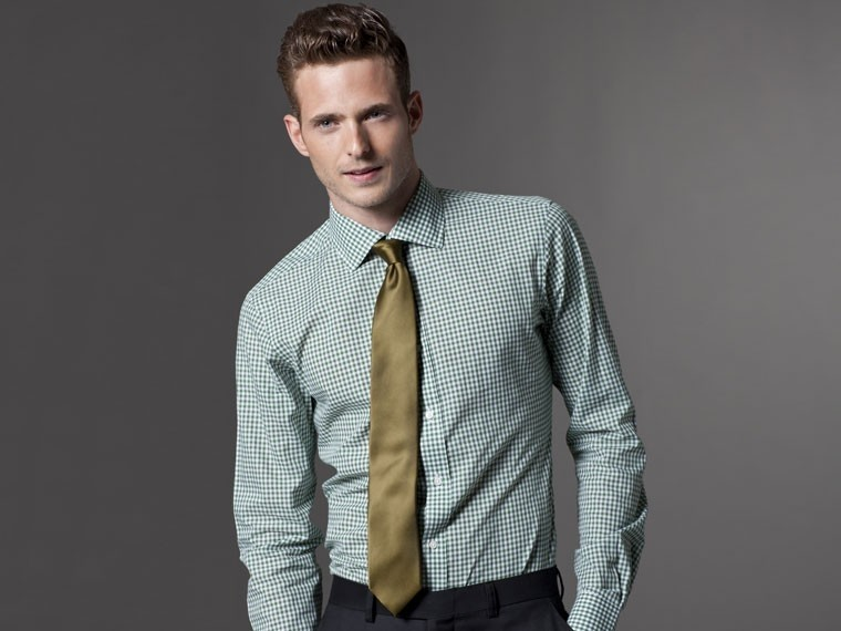 Grounded in Green Gingham Dress Shirt 1