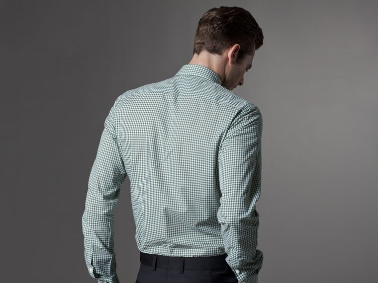 Grounded in Green Gingham Dress Shirt 3