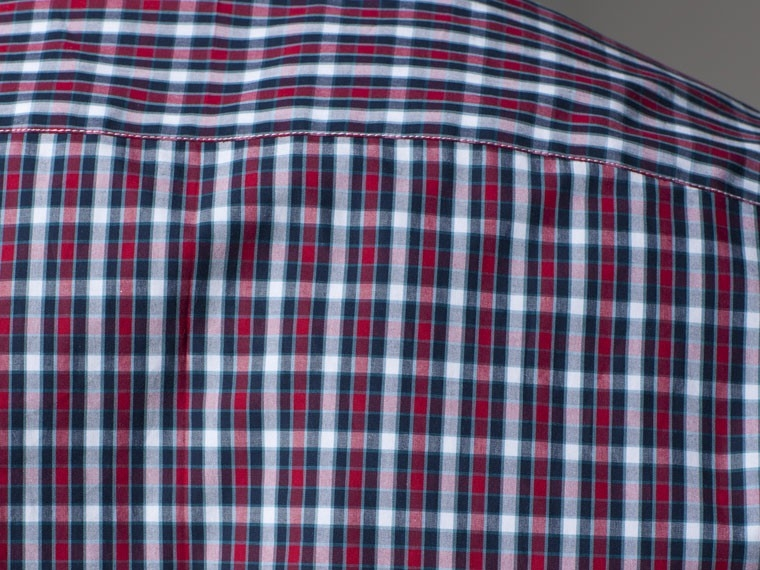 Office Explorer Blue and Red Gingham Dress Shirt 4