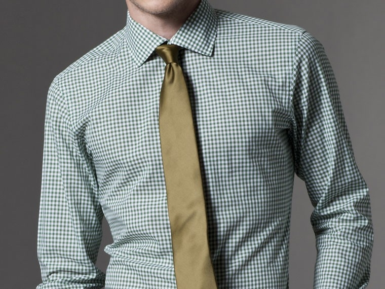 Grounded in Green Gingham Dress Shirt 2