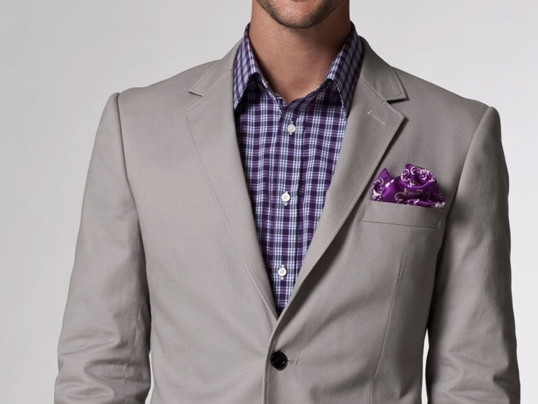 The Perfect Match Gray Cotton Blazer 2