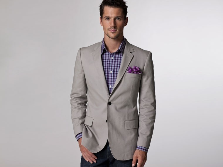 The Perfect Match Gray Cotton Blazer 1
