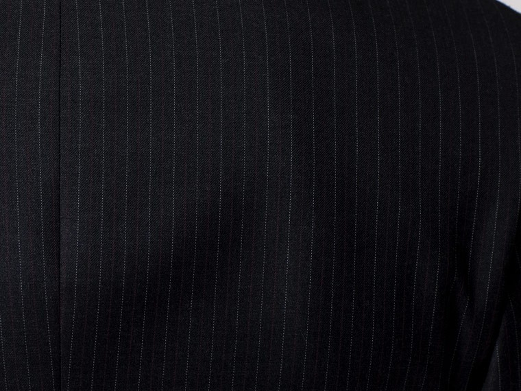 Vincero Charcoal, Red & White Pinstripe Suit 7