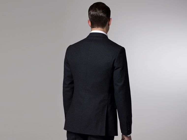 Charcoal Flannel Pinstripe Suit 3