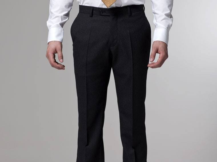 Charcoal Flannel Pinstripe Suit 5