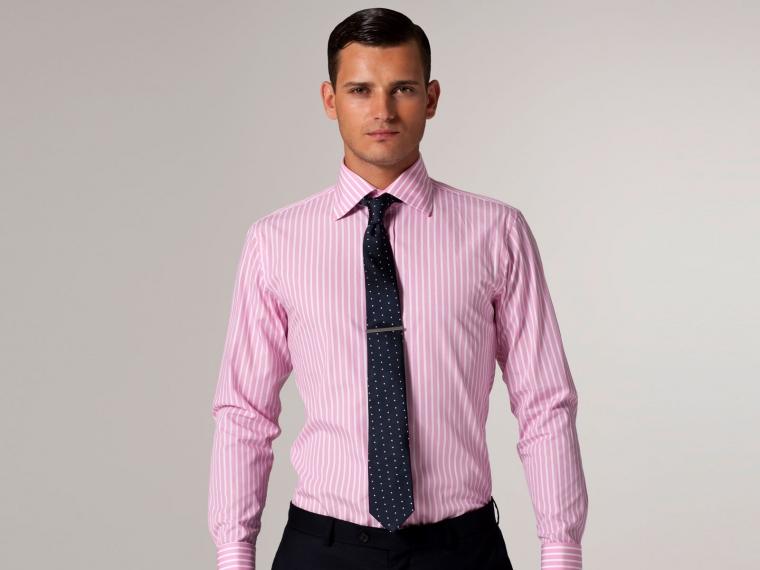 The Bond Street Light Pink Butcher Stripe Shirt