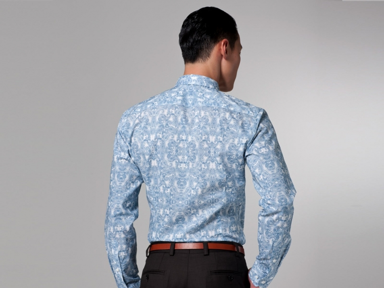 Blue Paisley Shirt 3