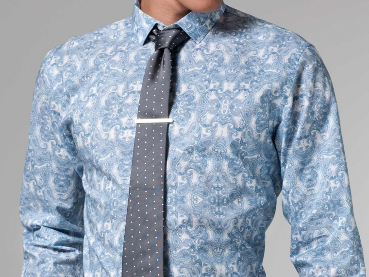 Blue Paisley Shirt 2