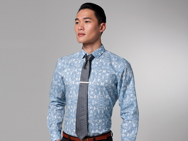 Blue Paisley Shirt 1
