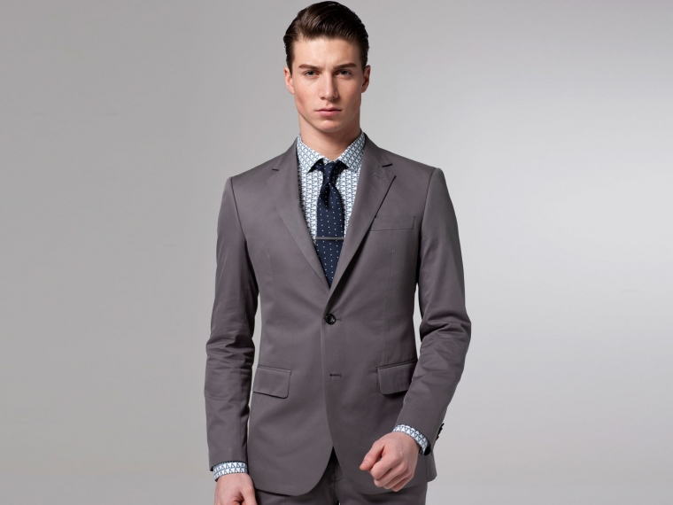 The Voyager Gray Cotton & Silk Suit