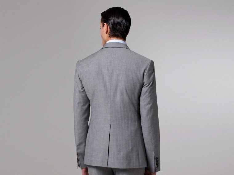 Essential Gray Herringbone Three-Piece Suit 2