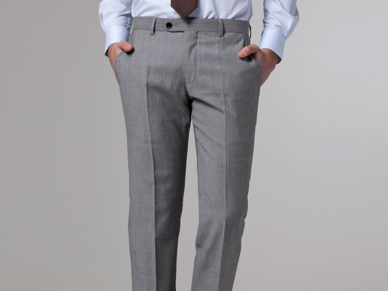 Essential Gray Herringbone Three-Piece Suit 6