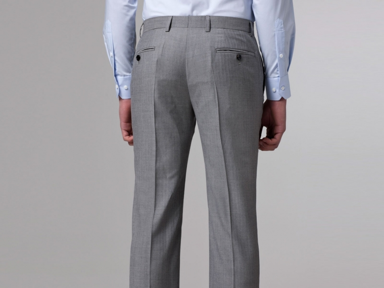 Essential Gray Herringbone Three-Piece Suit 7