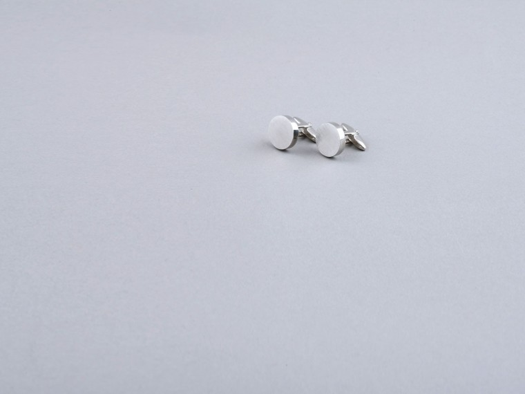 Brushed Metal Cufflinks 1