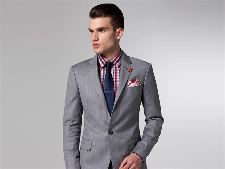 The Superhero Light Gray Pinstripe Suit