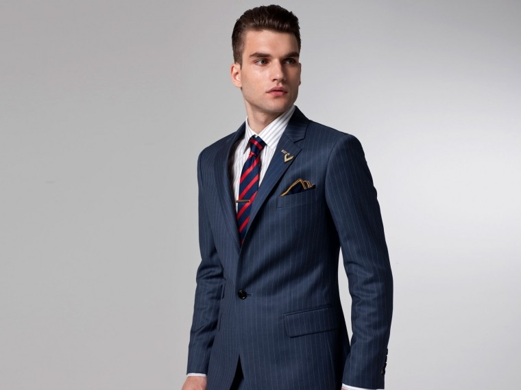 The Superhero Blue Pinstripe Suit
