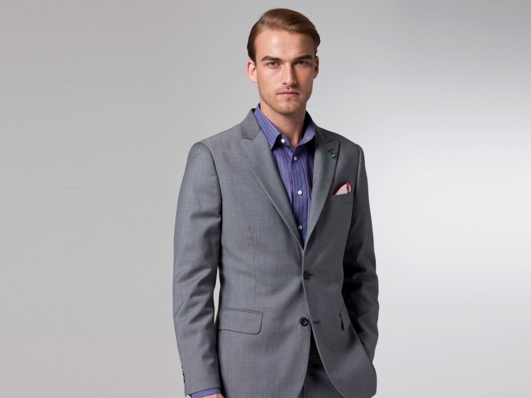 The Superhero Gray Twill Suit 1