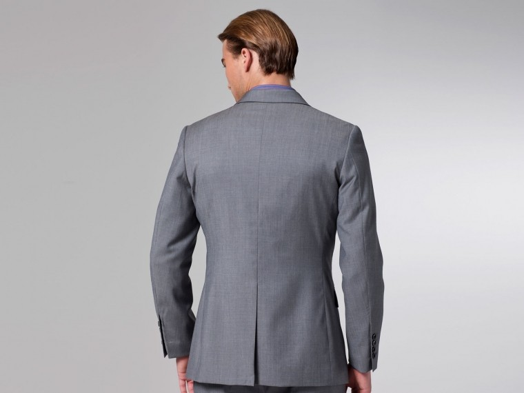 The Superhero Gray Twill Suit 3