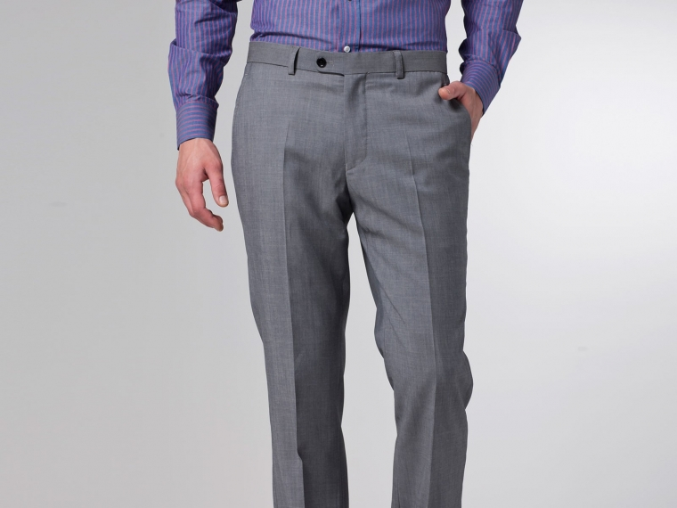 The Superhero Gray Twill Suit 7