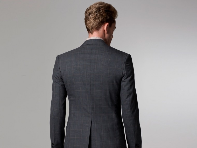 Gray Prince of Wales Suit 3