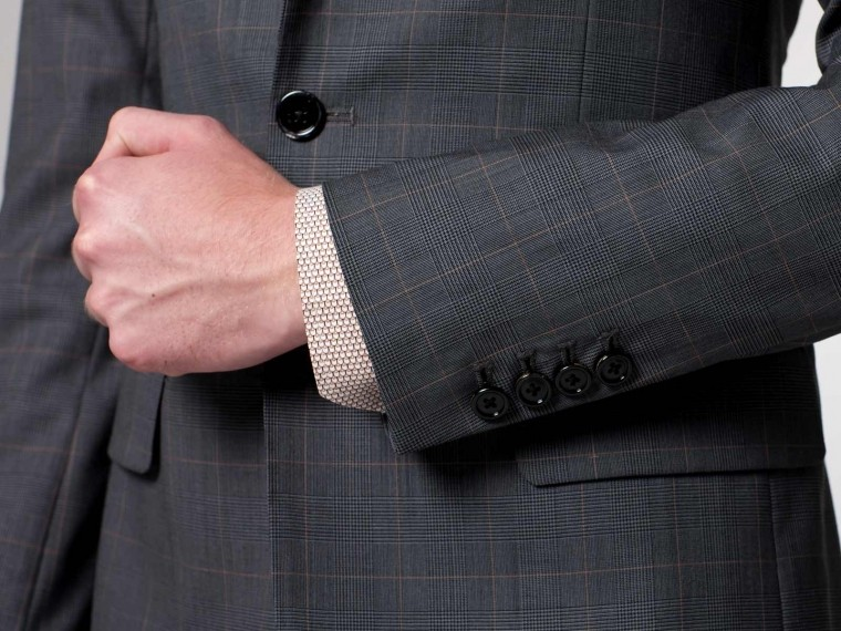 Gray Prince of Wales Suit 4