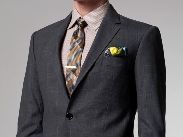 Gray Prince of Wales Suit 2