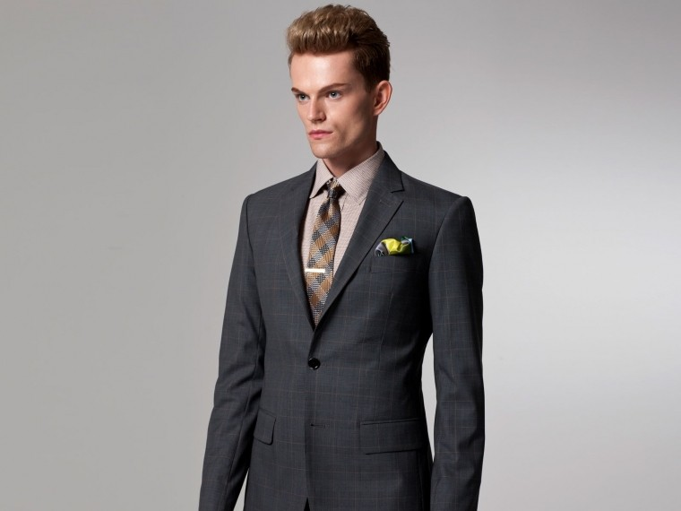 Gray Prince of Wales Suit 1