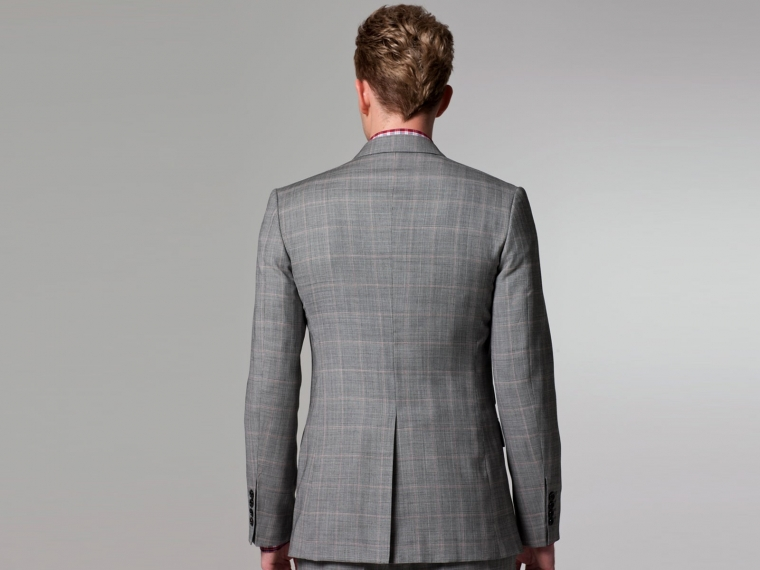 Checked Pink Windowpane Suit 3