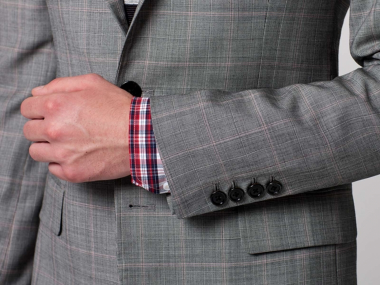 Checked Pink Windowpane Suit 4
