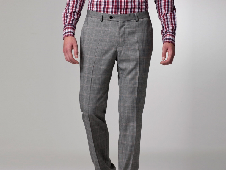Checked Pink Windowpane Suit 5