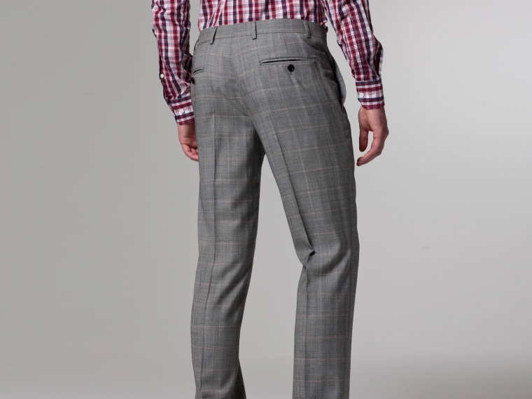 Checked Pink Windowpane Suit 6