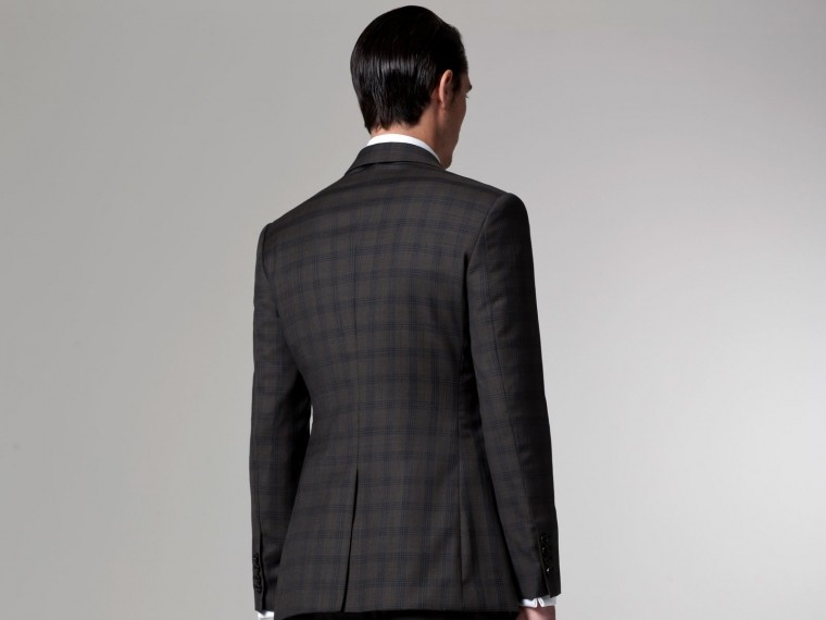 The Baltimore Buzz Olive Checked Suit 2