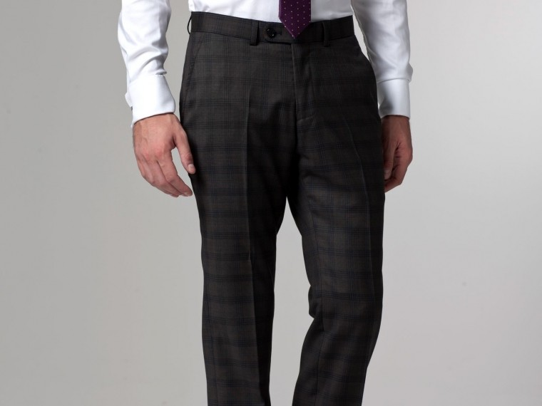 The Baltimore Buzz Olive Checked Suit 4