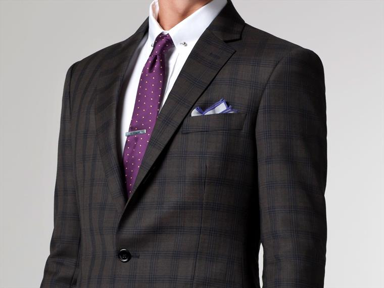 The Baltimore Buzz Olive Checked Suit 1